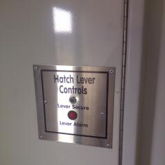 Hatch Lever Support Monitor